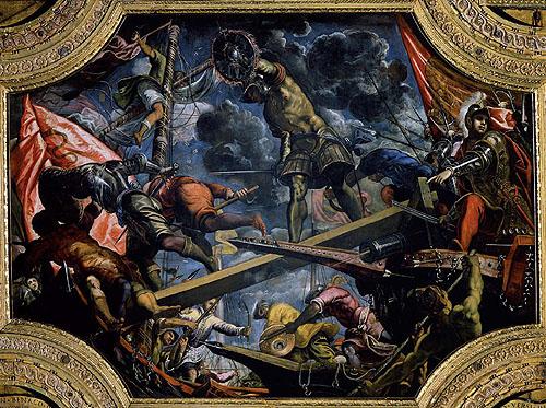 Dipinto Tintoretto su Galeas per montes
